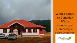 What Factors to Consider While Choosing a Homestay in Sakaleshapura